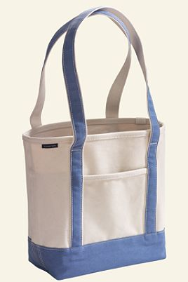 Lands' End Zip Top Canvas Tote
