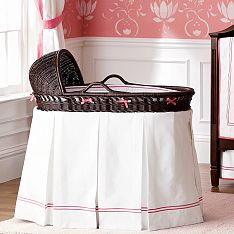 Pottery Barn Kids Bassinet with Bedding
