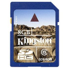 Kingston 8GB SDHC card